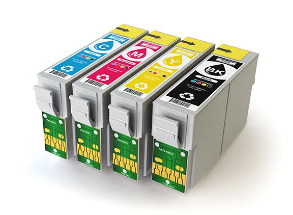 Étiquette autocollante personnalisée cartouche encre