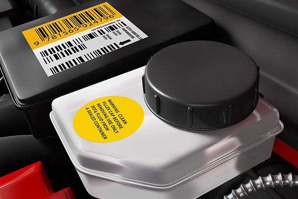 étiquette code barres automobile