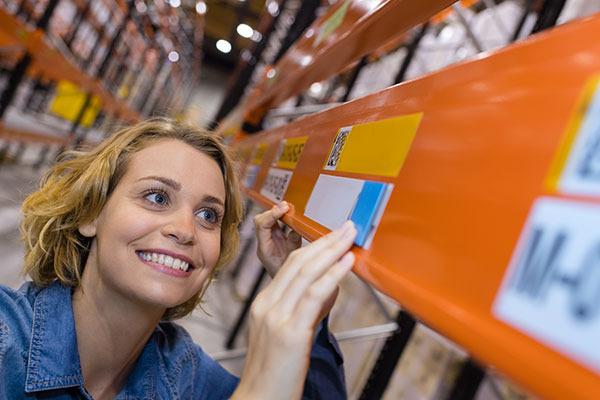 étiquette code barres entrepôt