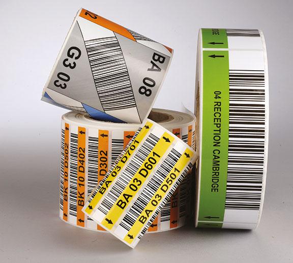 étiquette code barres rouleaux