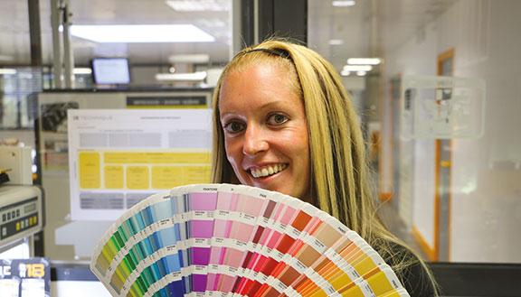 étiquette décor nuancier couleur