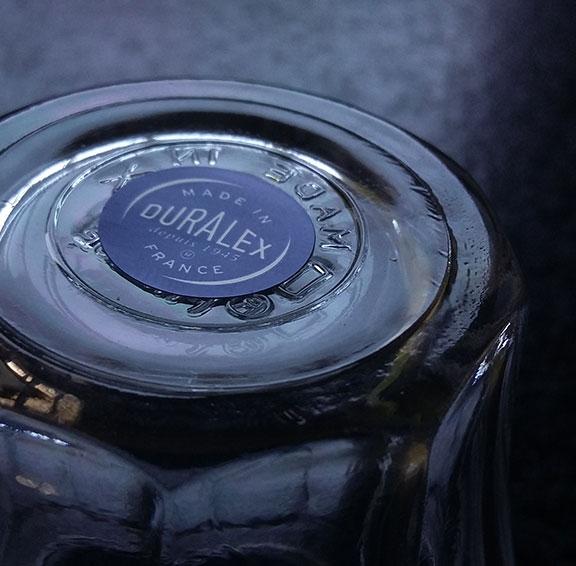 étiquette logo marque duralex verre