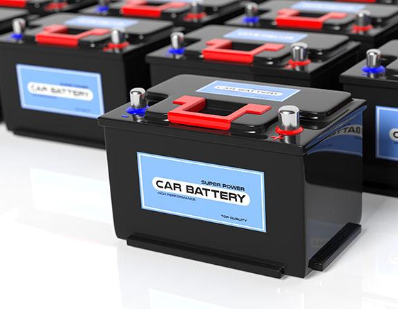 étiquette produit logo batterie voiture