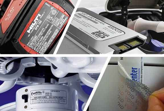 étiquettes plaque de firme