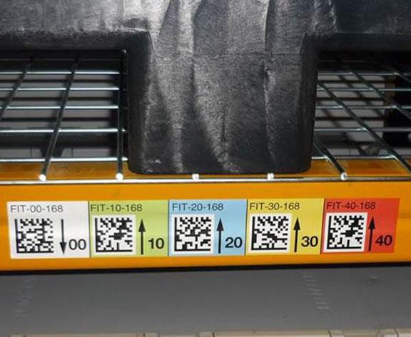 marquage entrepôts bandeaux datamatrix