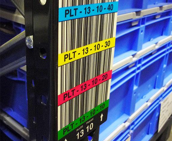 marquage entrepôts bandeaux échelle de racks