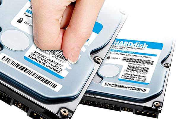 plaque de firme étiquette sécurité électronique